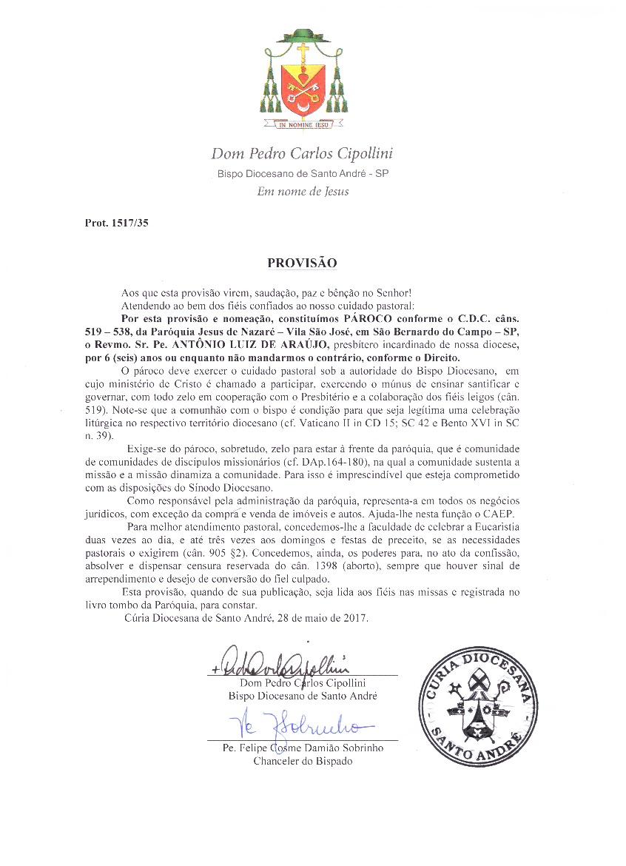 Comunicados – Diocese de Santo André
